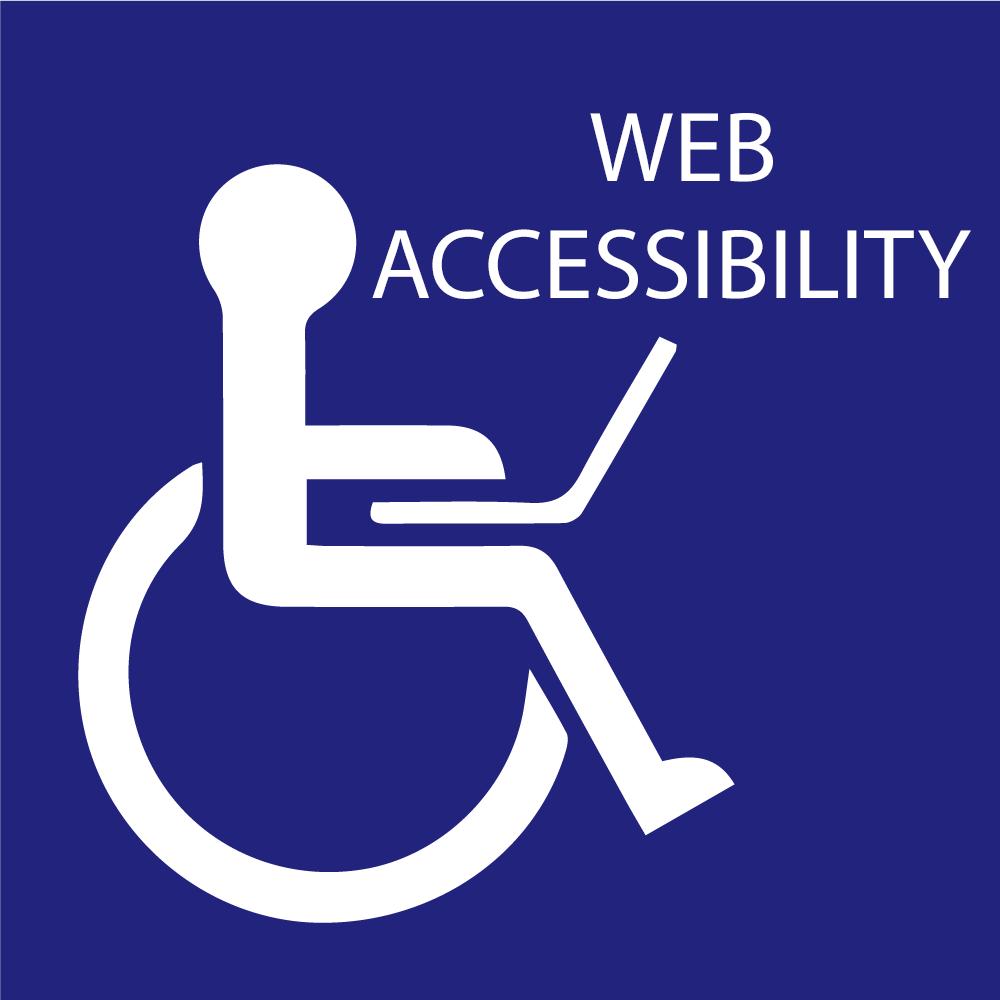 A web accessibility icon.