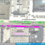 An aerial map detailing the on street parking changes for North 12th Street between Washington Street and Kennedy Boulevard