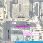An aerial map detailing the on street parking changes for Washington Street between North 12th Street and Channelside Drive
