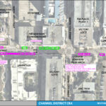 An aerial map detailing the on street parking changes for Whiting Street between North Meridian Avenue and Channelside Drive.